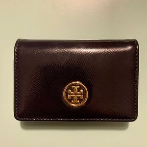 Tory Burch Black Foldable Mini Wallet